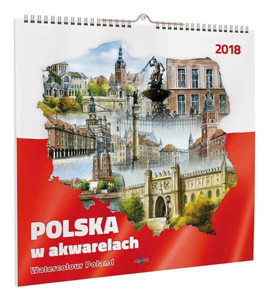 Kalendarz Ścienny Duży KD-16 MIASTA POLSKI OUTLET