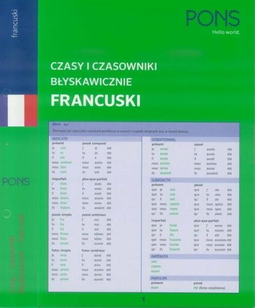 Czasy i czasowniki błyskawicznie. Francuski PONS