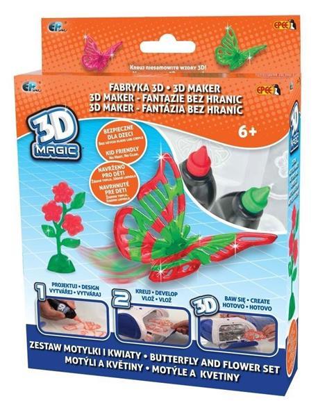 3D Magic - Fabryka 3D - zestaw Motylki i Kwiaty