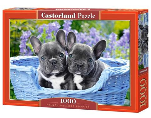 Puzzle 1000 French Bulldog Puppies CASTOR