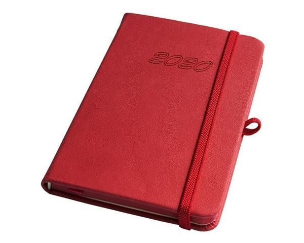 Kalendarz 2020 A6 tyg. Techno czerwony ELEFANT