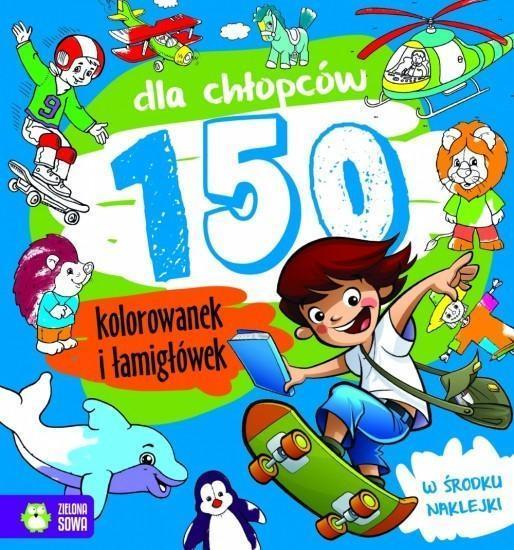 150 kolorowanek dla chłopców NOWE
