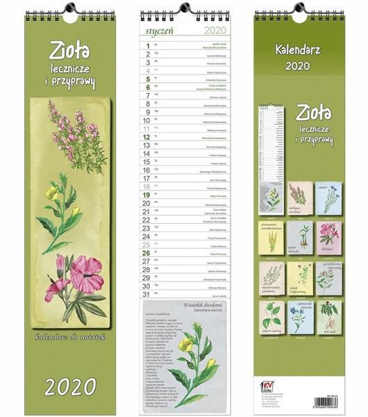 Kalendarz 2020 13 Plansz paskowy - Zioła EV-CORP