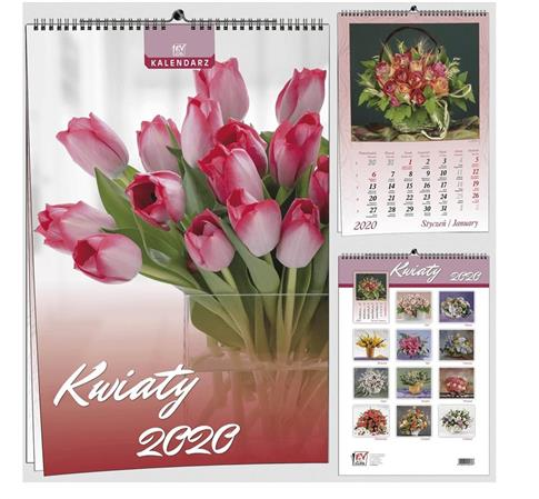 Kalendarz 2020 7 Plansz B3 - Kwiaty EV-CORP