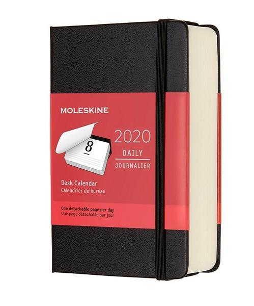 Kalendarz 2020 dzienny 12M tw. na biurko czarny