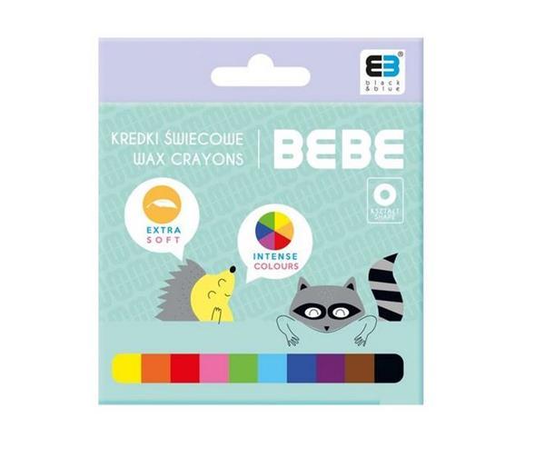 Kredki świecowe 10 kolorów B&B Kids Pastel NOSTER