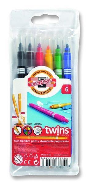 Flamastry Twins 6 kolorów