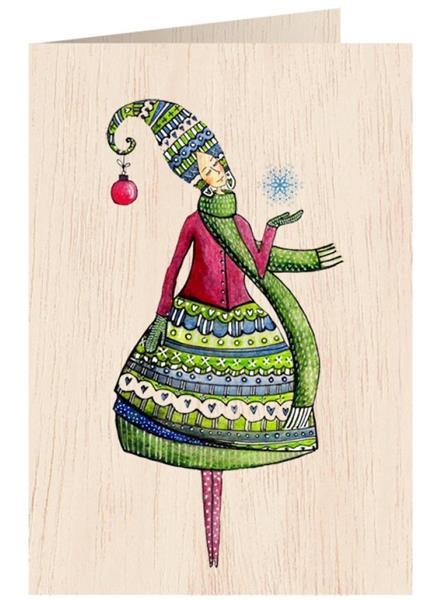 Karnet drewniany C6 + koperta Święta Kobieta