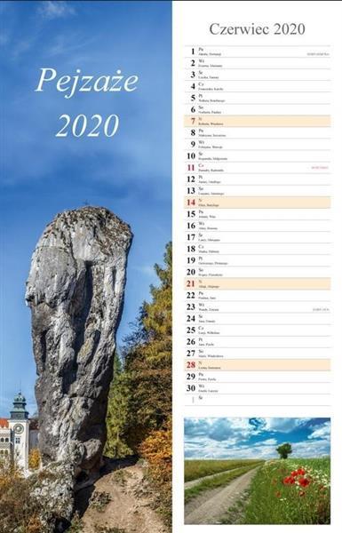 Kalendarz 2020 Pejzaże 13 planszowy 15x48 RADWAN