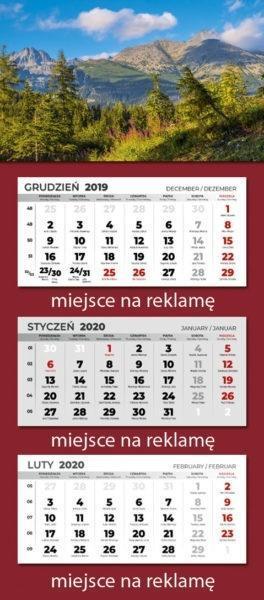 Kalendarz 2020 Trójdzielny MIX PP