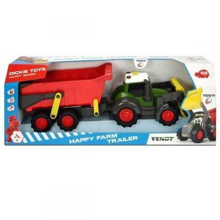 Happy Traktor z przyczepką