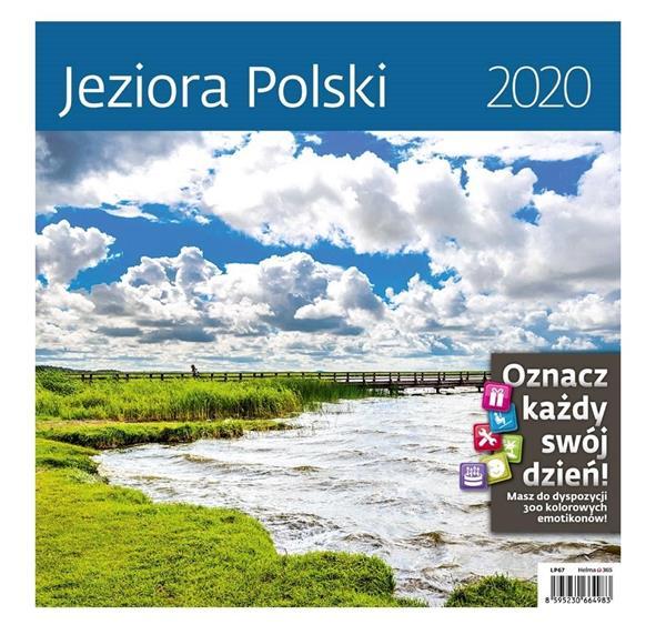 Kalendarz 2020 Jeziora Polski 30x30cm NARCISSUS