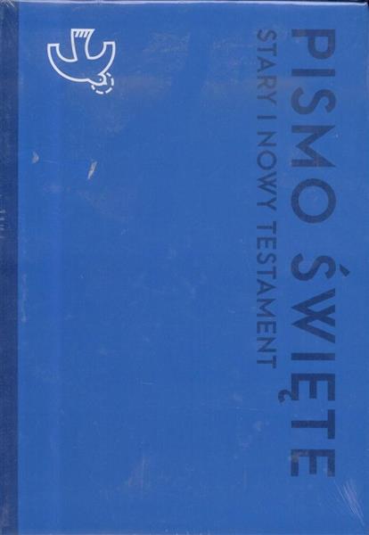 Pismo Święt ST i NT duże niebieskie