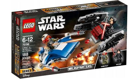 LEGO STAR WARS A-Wing kontra TIE Silencer 75196