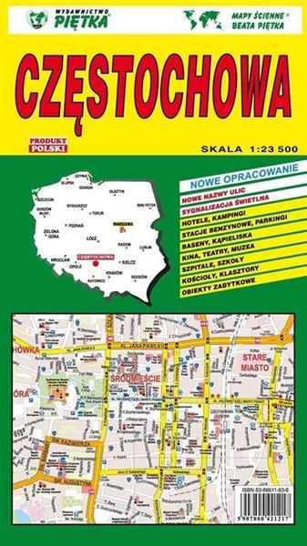 Częstochowa 1:23 500 plan miasta PIĘTKA