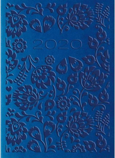 Kalendarz 2020 Tygod. A7 Vivella Niebieski 01T04
