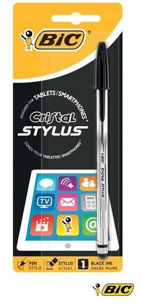 Długopis Cristal Stylus czarny bls BIC