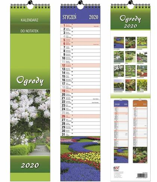 Kalendarz 2020 13 Plansz paskowy - Ogrody EV-CORP