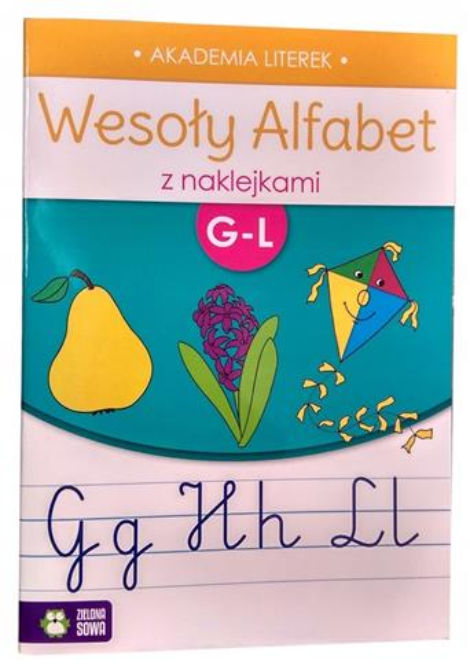 Wesoły alfabet z naklejkami G-L-24251