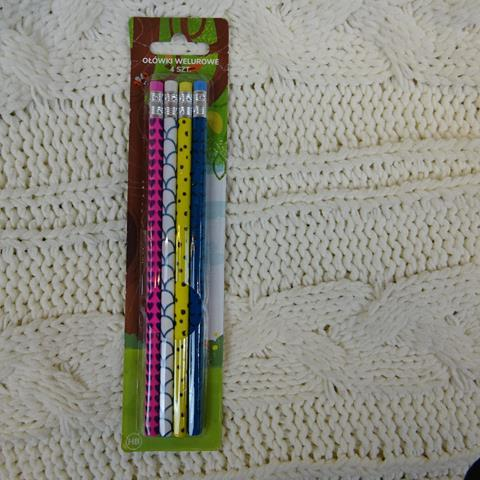 Ołówki welurowe 4 sztuki-22787