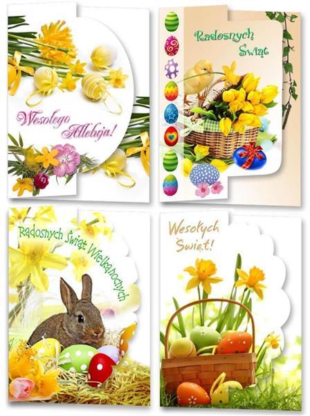 Karnet B6 Wielkanoc-wycinany (10szt.) świecki MIX