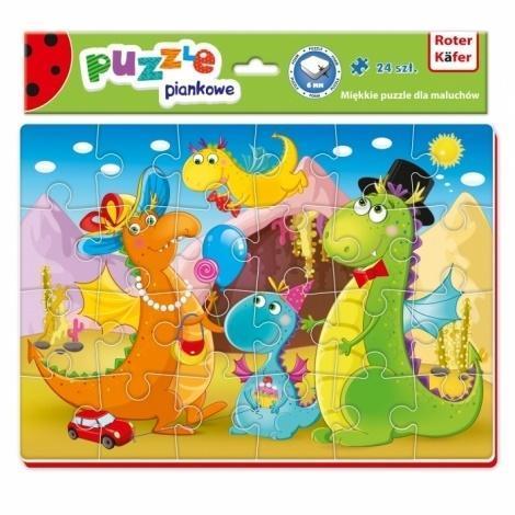Miękkie puzzle A4 Śmieszne zdjęcia Dinozaury