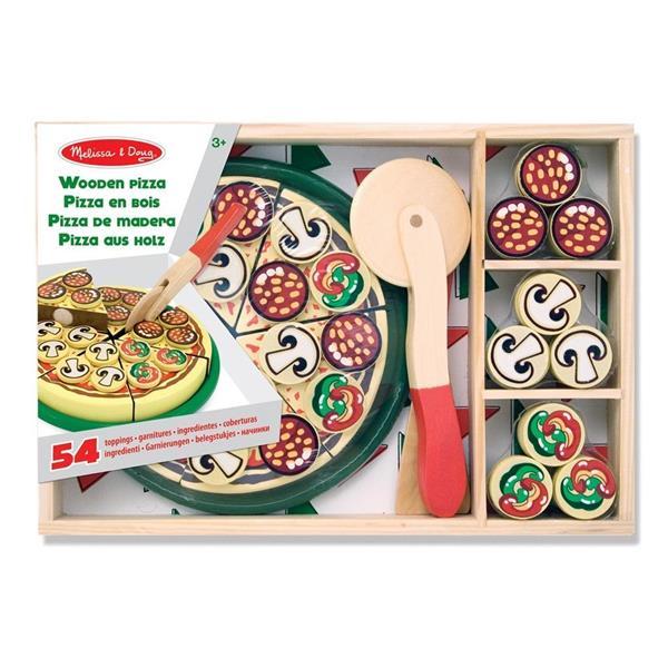 Drewniany zestaw Pizza party