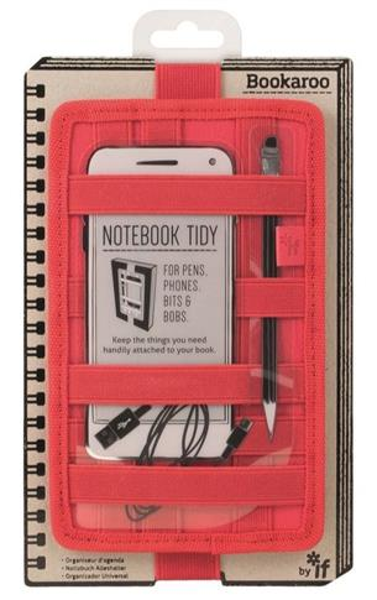Bookaroo Notebook Tidy Organizer na notes czerwony