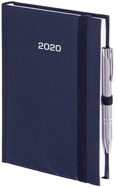 Kalendarz 2020 A4 Tygod. Cross z gumką Granatowy