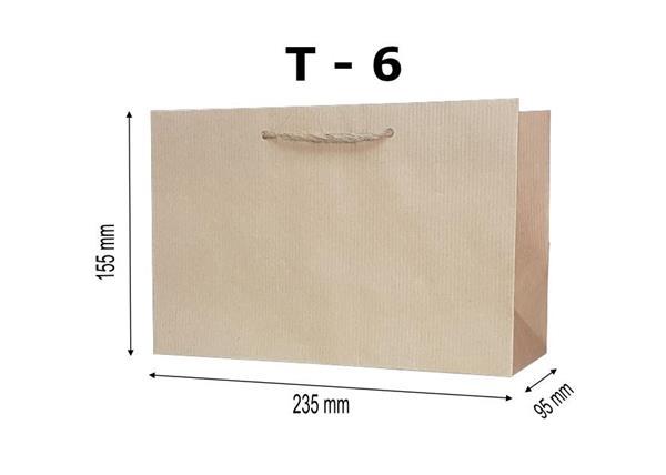 Torebka ozdobna T-6 kraft