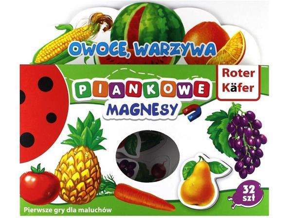 Magnesy piankowe Owoce i warzywa