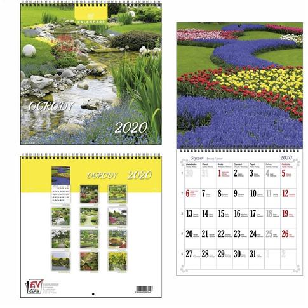 Kalendarz 2020 13 Planszowy Ogrody EV-CORP
