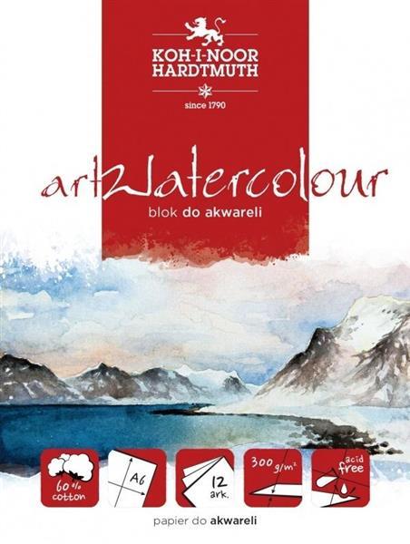 Blok akwarelowy artwatercolour A6 12 kartek 300G.
