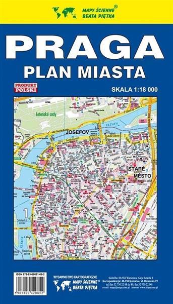Praga 1:18 000 Plan miasta PIĘTKA