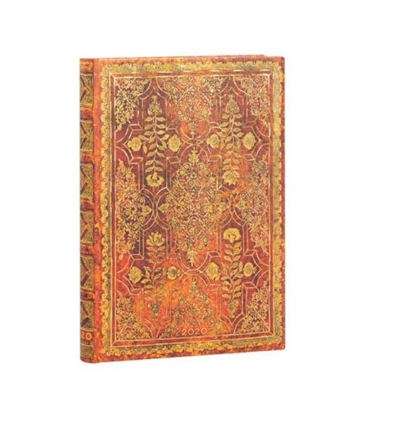 Kalendarz książkowy mini 2020 12M hor. Persimmon