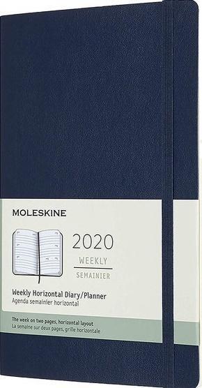 Kalendarz 2020 tygodniowy 12ML mo. Sapphire blue