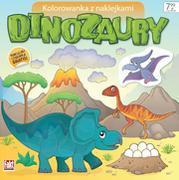 Kolorowanka z naklejkami. Dinozaury figurka outlet