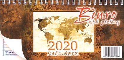 Kalendarz 2020 Biurkowy poziomy Mini ANIEW