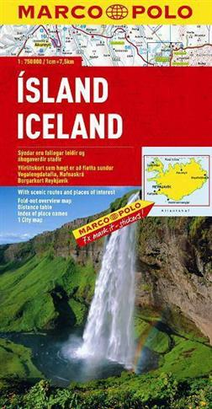 Mapa Drogowa Marco Polo. Islandia 1:750 000