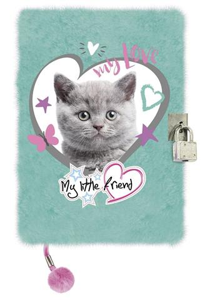 Pamiętnik z kłódką A5/96K My Little Friend Kot Min