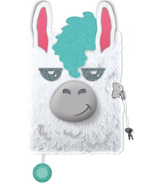 Pamiętnik z kłódką A5/96K 3D Lama