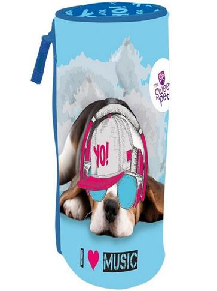 Piórnik tuba The Sweet Pets - Pies niebieski