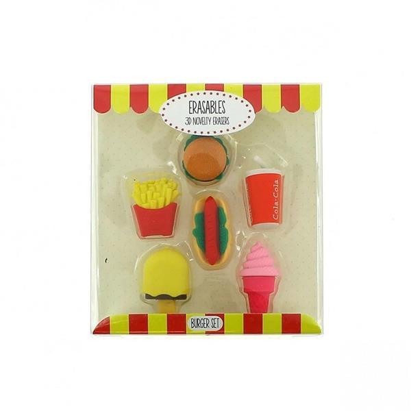 Gumki do mazania - zestaw fast food