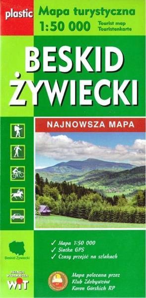 Mapa turystyczna - Beskid Żywiecki 1:50 000 WIT