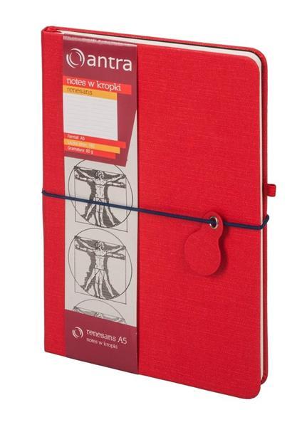 Notes A5 Kropki Renesans Czerwony ANTRA