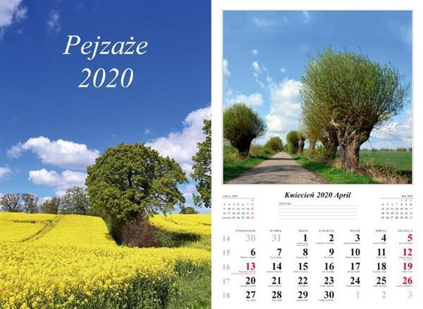 Kalendarz 2020 Pejzaże 7 planszowy RADWAN