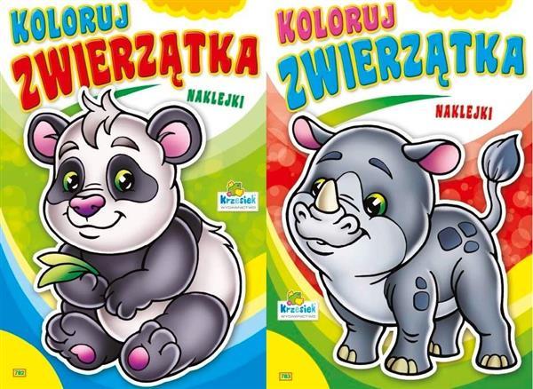 (207) Koloruj zwierzątka MIX