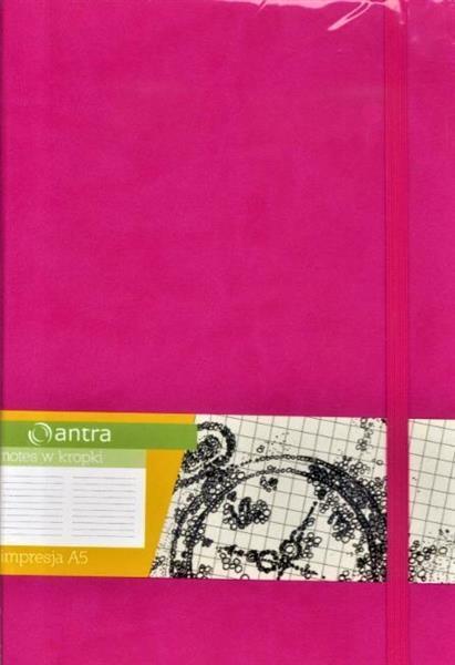 Notes A5 Kropki Impresja Różowy ANTRA