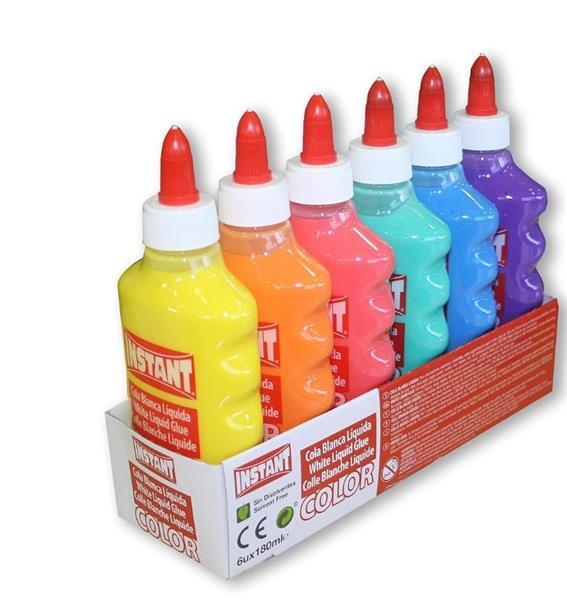 Klej w płynie kolorowy 180ml (6szt) INSTANT