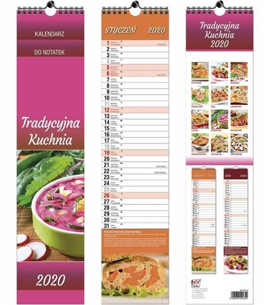 Kalendarz 2020 13 Plansz paskowy - Kuchnia EV-CORP